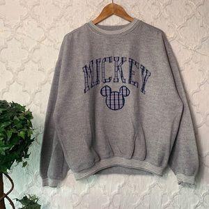 Vintage Mickey Mouse Disney Grey Crewneck Sweater